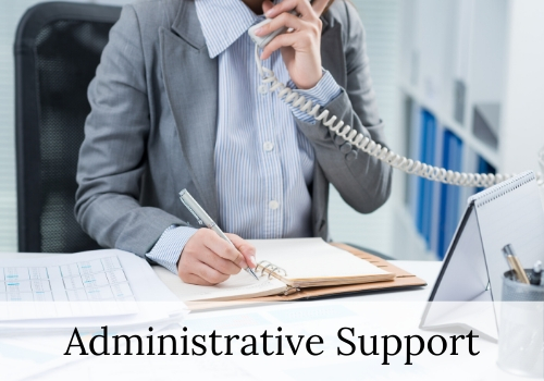 administrative assistant using phone
